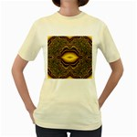 brown_fantasy-958468 Women s Yellow T-Shirt
