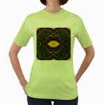 brown_fantasy-958468 Women s Green T-Shirt