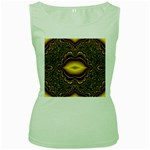 brown_fantasy-958468 Women s Green Tank Top