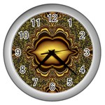 brown_fantasy-958468 Wall Clock (Silver)
