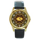 brown_fantasy-958468 Round Gold Metal Watch