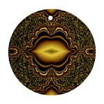 brown_fantasy-958468 Round Ornament (Two Sides)