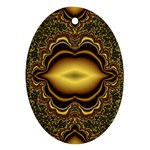 brown_fantasy-958468 Oval Ornament (Two Sides)