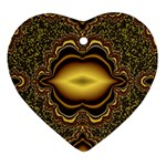 brown_fantasy-958468 Heart Ornament (Two Sides)
