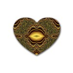 brown_fantasy-958468 Rubber Coaster (Heart)