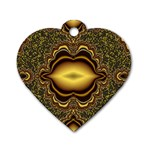 brown_fantasy-958468 Dog Tag Heart (One Side)