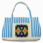 -color%20matrix-685134 Striped Blue Tote Bag