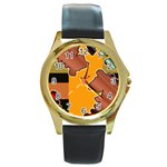 colordesign-391598 Round Gold Metal Watch