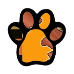 colordesign-391598 Magnet (Paw Print)