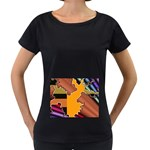 colordesign-391598 Maternity Black T-Shirt