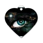 eye-538468 Dog Tag Heart (One Side)