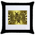 gold-260221 Throw Pillow Case (Black)