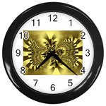 gold-260221 Wall Clock (Black)