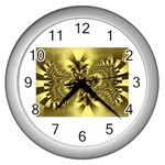 gold-260221 Wall Clock (Silver)