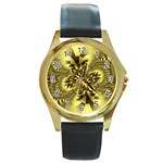 gold-260221 Round Gold Metal Watch