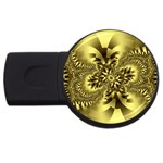 gold-260221 USB Flash Drive Round (1 GB)