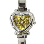 gold-260221 Heart Italian Charm Watch
