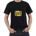 gold-260221 Black T-Shirt (Two Sides)