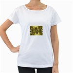 gold-260221 Maternity White T-Shirt