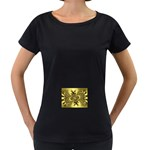 gold-260221 Maternity Black T-Shirt