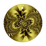gold-260221 Round Ornament (Two Sides)