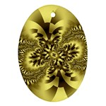 gold-260221 Oval Ornament (Two Sides)