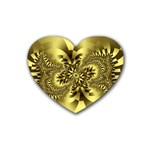 gold-260221 Heart Coaster (4 pack)