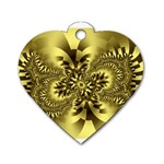 gold-260221 Dog Tag Heart (One Side)
