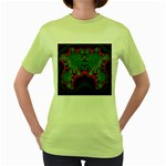 Grimbala-954205 Women s Green T-Shirt