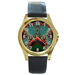 Grimbala-954205 Round Gold Metal Watch