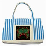 Grimbala-954205 Striped Blue Tote Bag