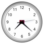 intensive_liquid-104671 Wall Clock (Silver)