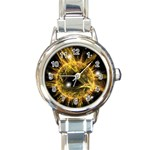 ikon06b-42458 Round Italian Charm Watch