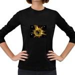 ikon06b-42458 Women s Long Sleeve Dark T-Shirt