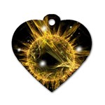 ikon06b-42458 Dog Tag Heart (One Side)