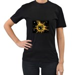 ikon06b-42458 Women s Black T-Shirt