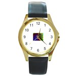 poison-917756 Round Gold Metal Watch