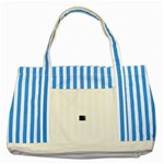 poison-917756 Striped Blue Tote Bag