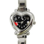 1024-feb-752974 Heart Italian Charm Watch
