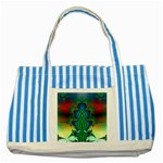 adamsky-416994 Striped Blue Tote Bag