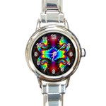 Aloe%20Heat-891123 Round Italian Charm Watch
