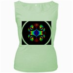 adamsky-416994 Women s Green Tank Top