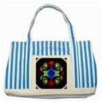 adamsky-416994 Striped Blue Tote Bag