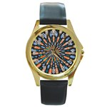 Art-Rings-864831 Round Gold Metal Watch