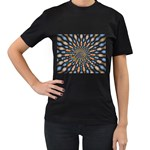 Art-Rings-864831 Women s Black T-Shirt (Two Sides)