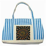 Art-Rings-864831 Striped Blue Tote Bag