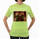 color-galaxy-323371 Women s Green T-Shirt