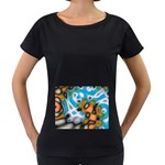 Color_Magma-559871 Maternity Black T-Shirt