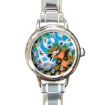 Color_Magma-559871 Round Italian Charm Watch