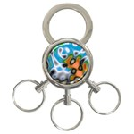 Color_Magma-559871 3-Ring Key Chain